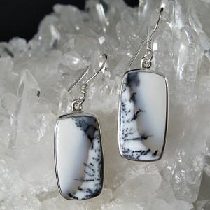 Pendientes merlinita y plata