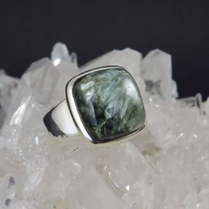 Anillo Plata y serafinita | La Tienda de los Minerales