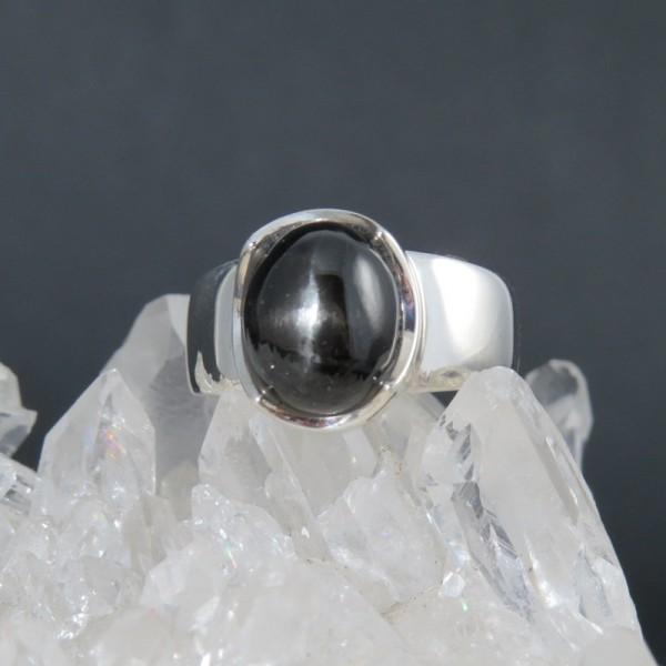 Anillo Black Star y plata 925 mm