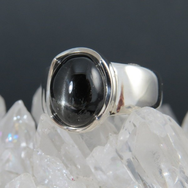 Anillo Black Star y plata 925 mm