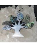 Colgante árbol abalón, nácar y plata