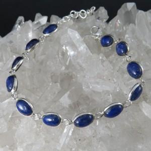 Pulsera joyería en plata lapislázuli y plata
