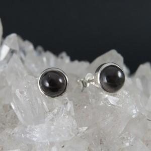 Pendientes Black Star y plata 925 mm
