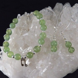 Conjunto Jade y plata 925 mm