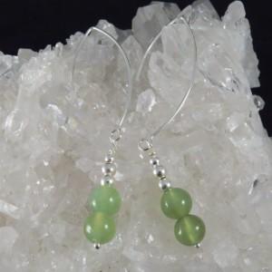 Pendientes Jade y plata