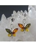 Conjunto mariposas ámbar y plata