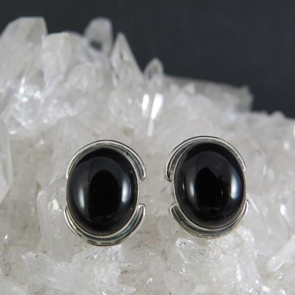 Conjunto colgante y pendientes onix y plata 925 mm