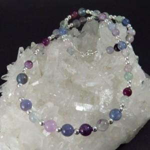 Collar Fluorita y plata - La Tienda de los Minerales