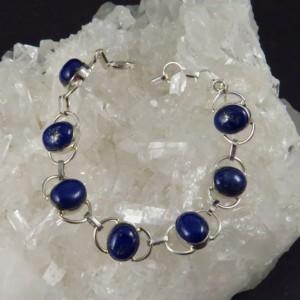 Pulsera lapislázuli y plata - la tienda de los minerales