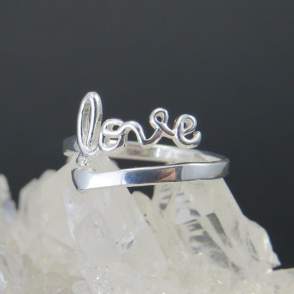 Anillos de plata - Anillo love | La Tienda de los Minerales