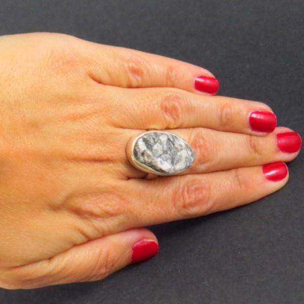 Anillo merlinita y plata