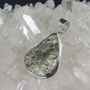 Colgante pirita y plata