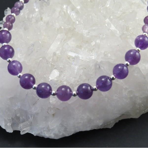 Collar amatista y plata | La Tienda de los Minerales - Joyería Online
