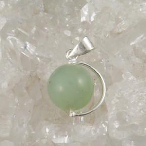 Colgante  jade y plata