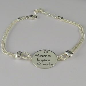 Pulsera plata Mama