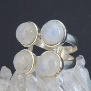Anillo piedra luna y plata