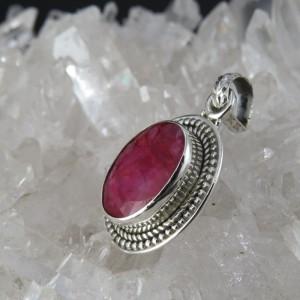 Colgante rubí y plata