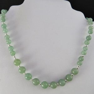 Collar cuarzo verde y plata