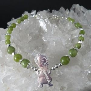 Pulsera Jade y plata 925 mm