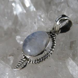 Colgante piedra luna y plata