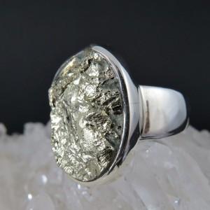 Anillo pirita y plata