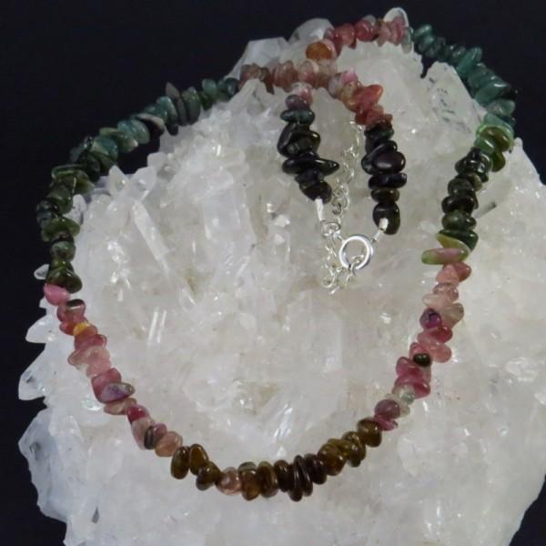 Collar turmalina de colores y plata - La Tienda de los Minerales