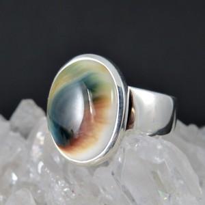 Anillo ojo de shiva y plata