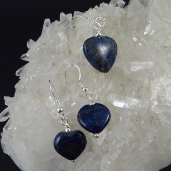 Conjunto lapislázuli y plata