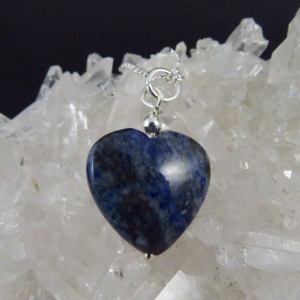 Colgante lapislázuli y plata - La Tienda de los Minerales
