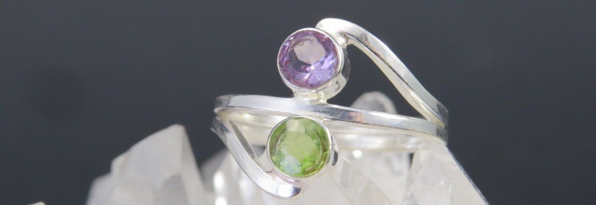 Anillos piedras semipreciosas y plata | La Tienda de los Minerales