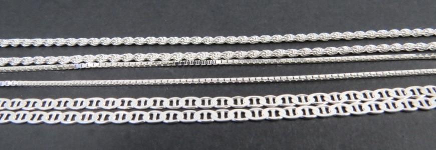 Cadenas de plata 40 cm | La Tienda de los Minerales
