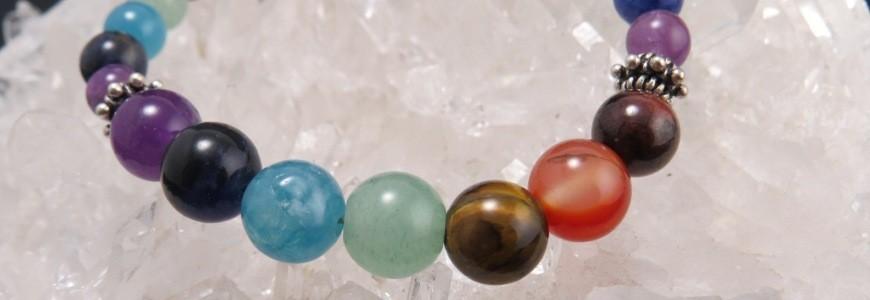 Pulsera realizadas con piedras 7 chakras
