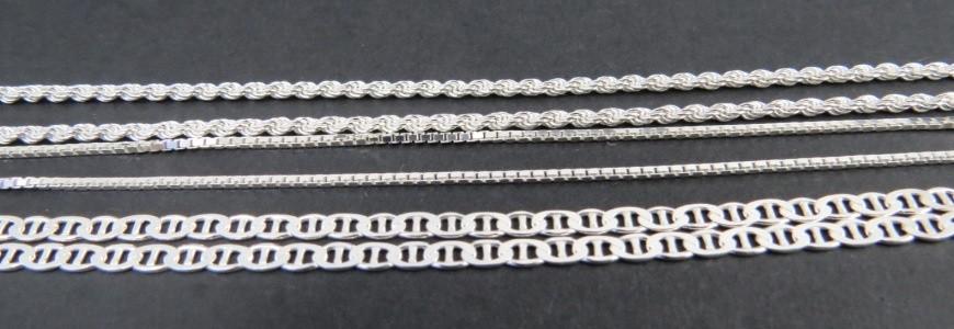 Cadenas de plata 60 cm